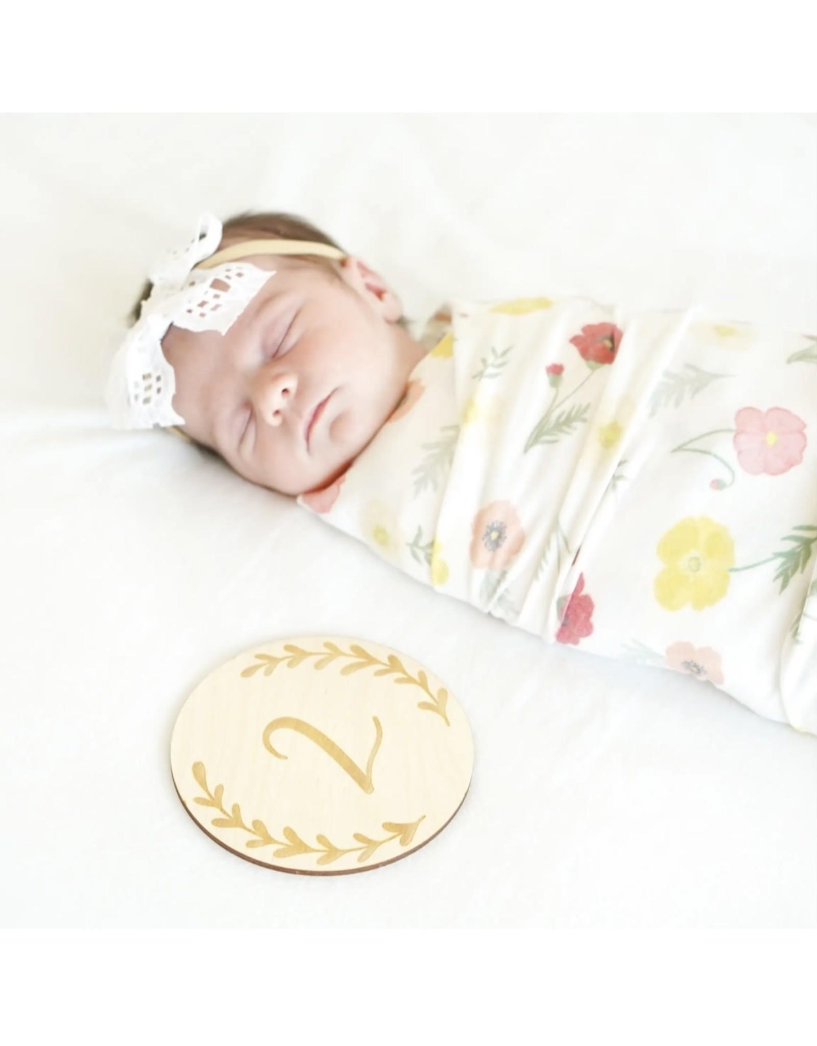 Village Baby Village Baby- Monthly Milestones: Graceful Greenery