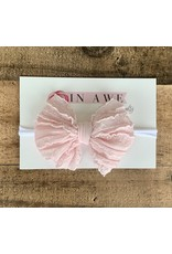 In Awe - Ballet Mini Ruffle Bow on Nylon Headband