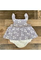 Grey & Cream Cherry Dress Bubble
