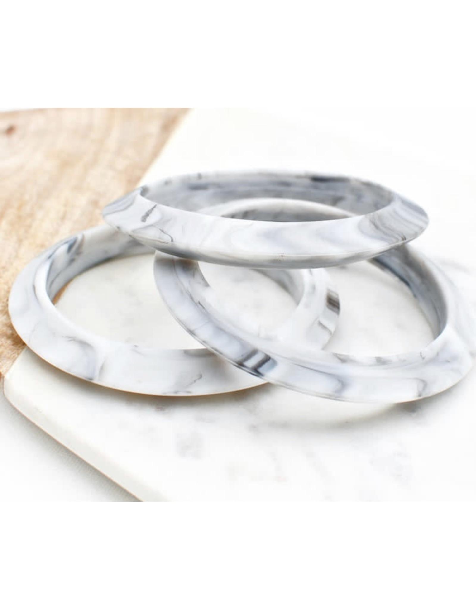 a' la mum - Grey Marble Thin Teething Bracelet