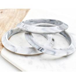 a' la mum a' la mum - Grey Marble Thin Teething Bracelet