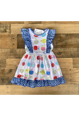 Back to School Royal Polka Apple Dress