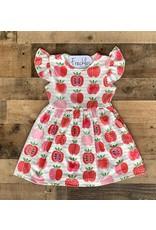 Apple Flutter Sleeve Dress