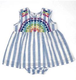 Cheeni Cheeni- Rainbow Sweetheart Baby Dress