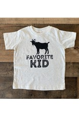 Favorite Kid TShirt: Oatmeal