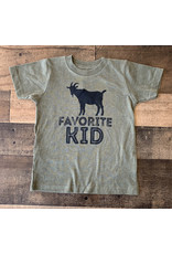 Favorite Kid TShirt: Army Green