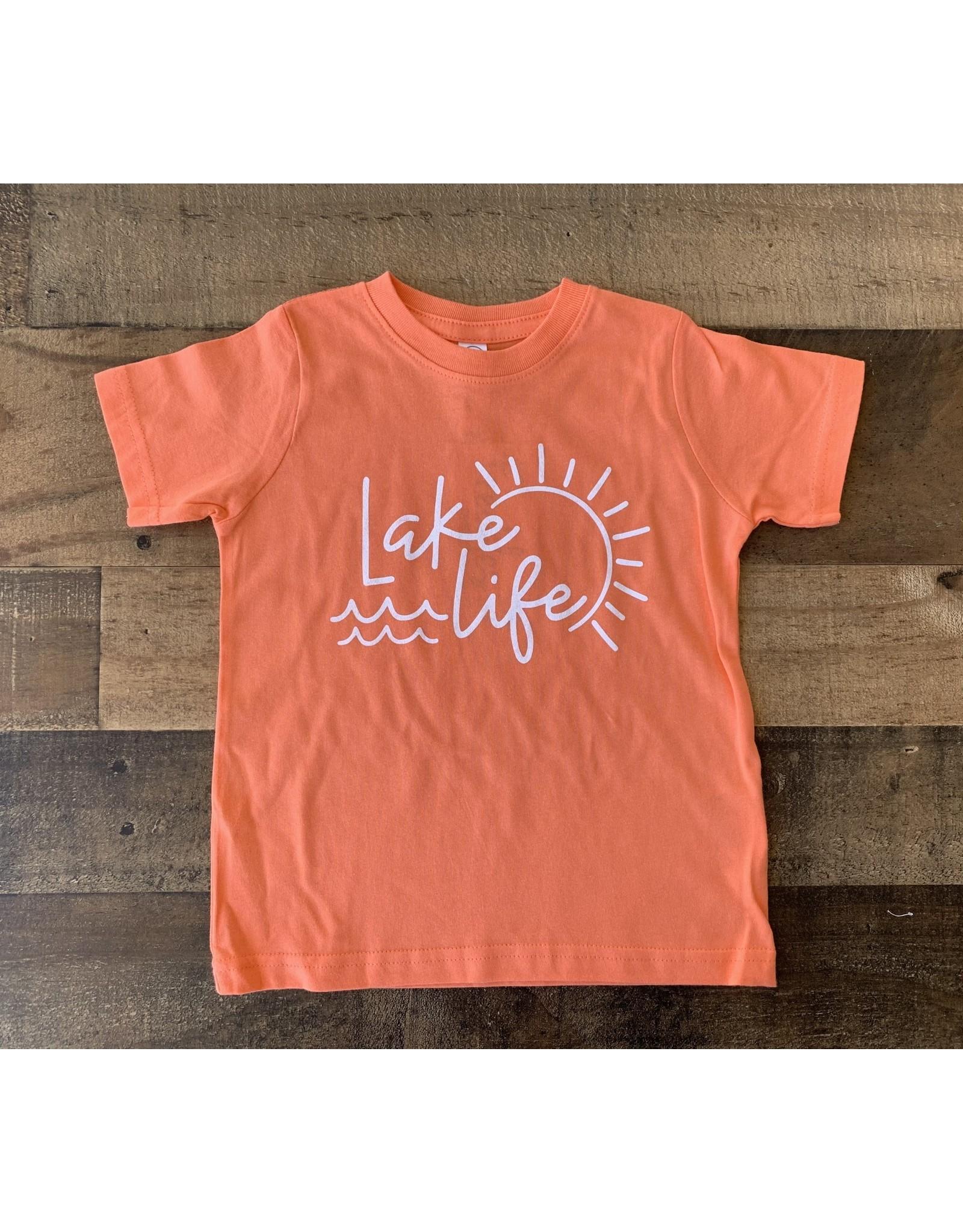Lake Life TShirt: Papaya