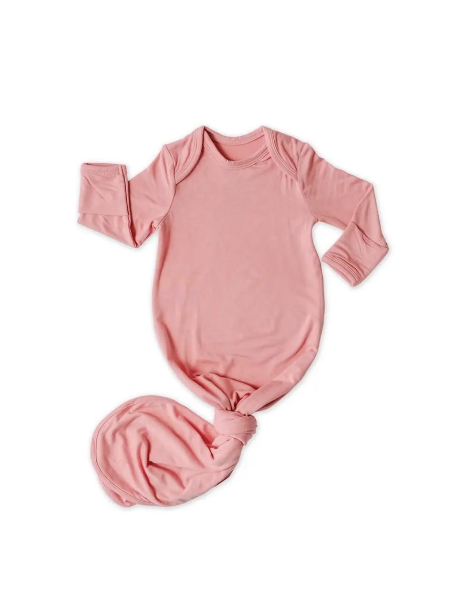 Little Sleepies Little Sleepies- Bubblegum Bamboo Viscose Knotted Gown