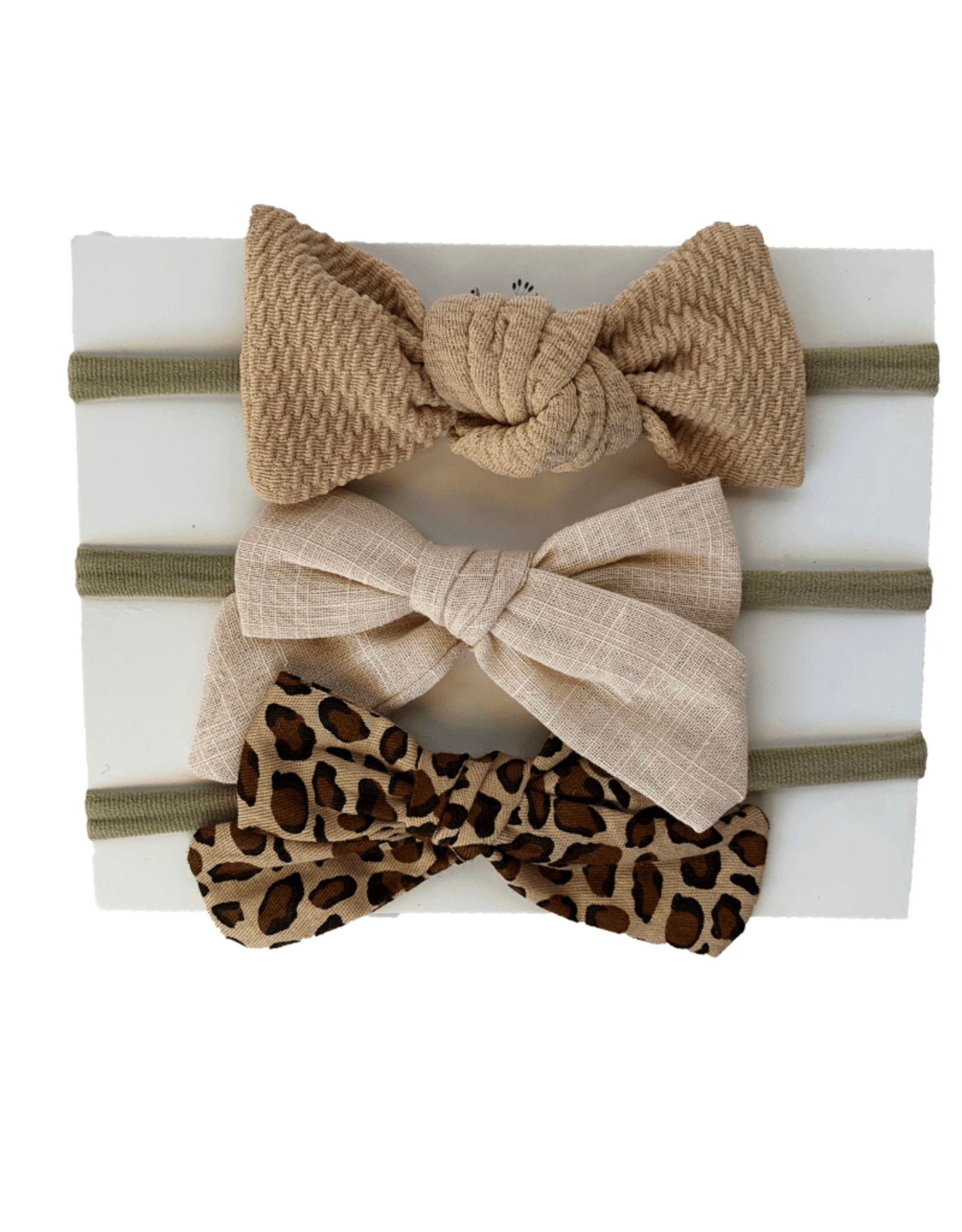 Baileys Blossoms Bailey's Blossoms- Breeanne Bow Headband Variety Pack: Classic Leopard