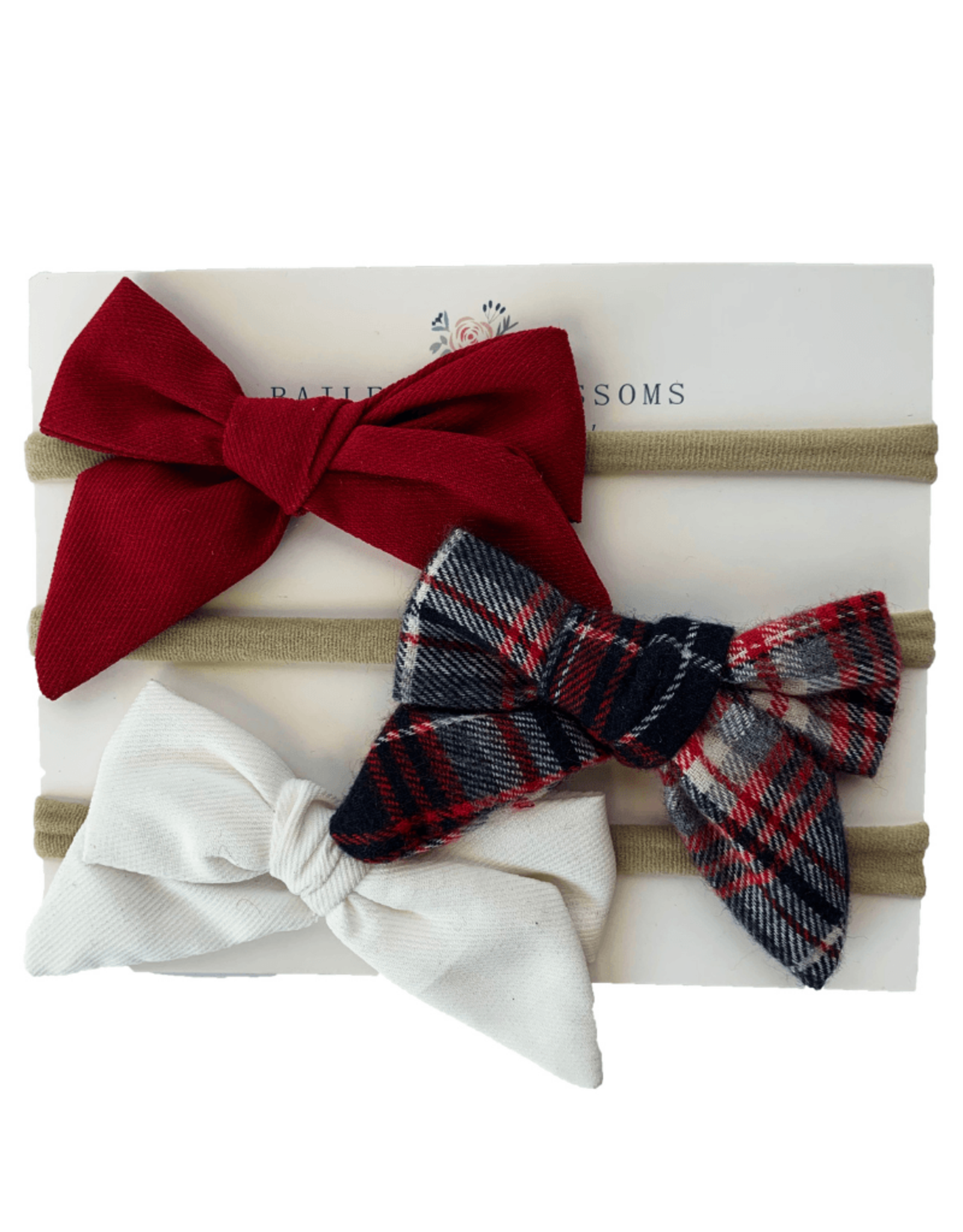 Baileys Blossoms Bailey's Blossoms- Breeanne Bow Headband Variety Pack: Scottie Dog Plaid