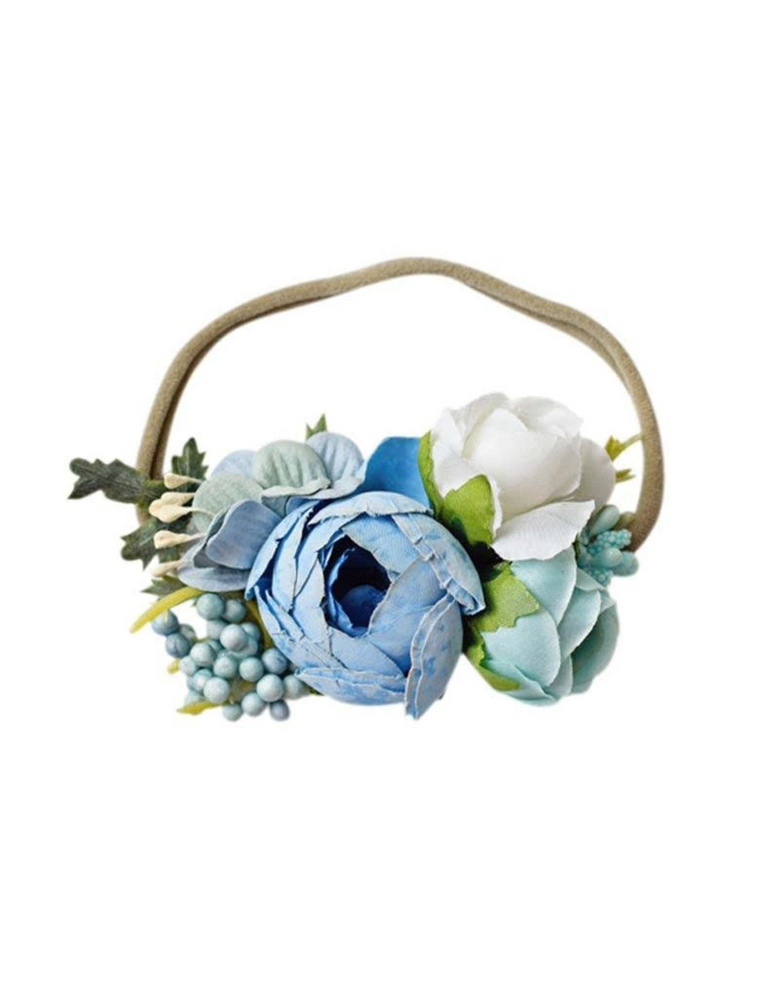 Baileys Blossoms Bailey's Blossoms- Blue Floral Stretch Headband