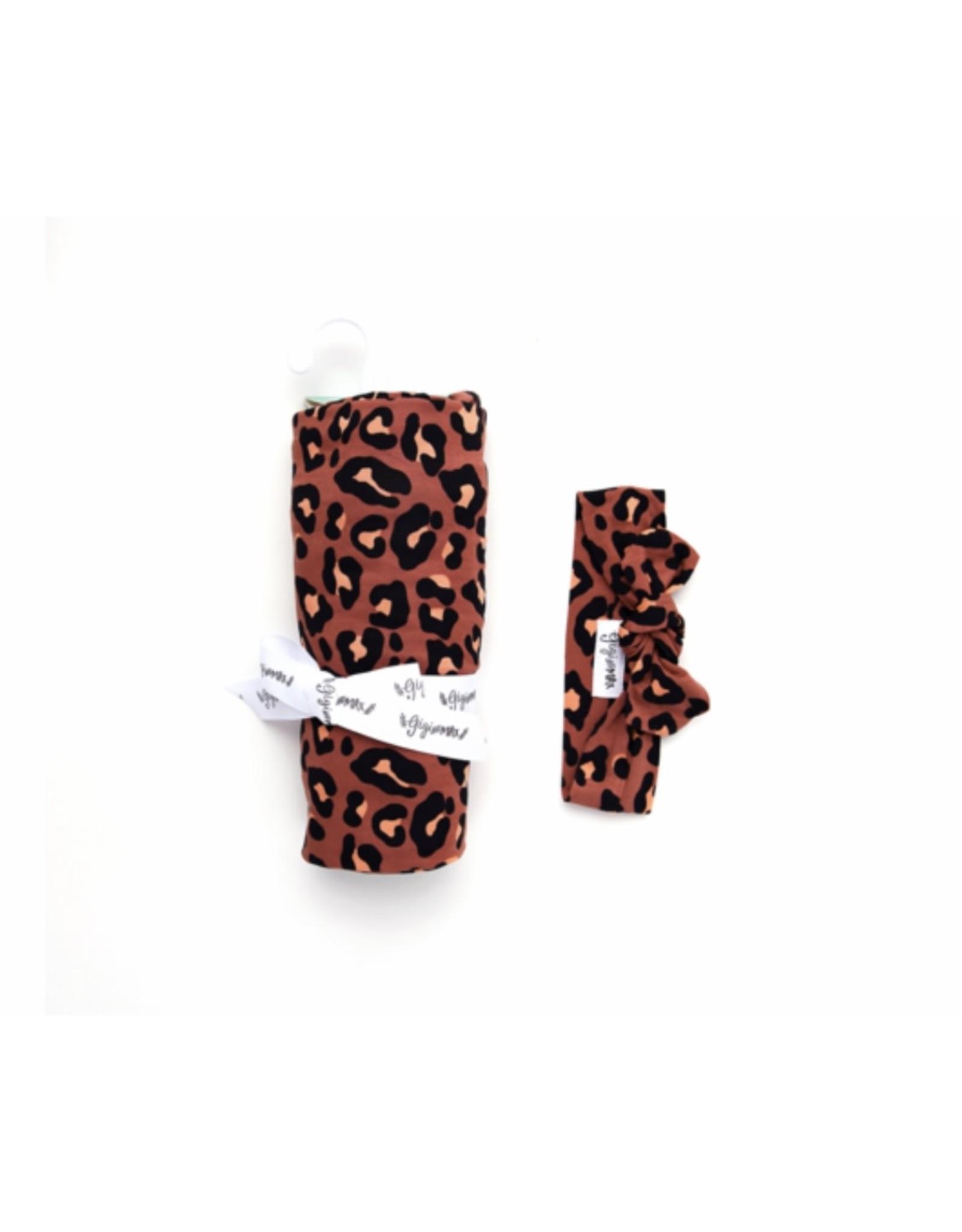 Gigi & Max Gigi & Max- Sienna Leopard Blanket & Headband Set