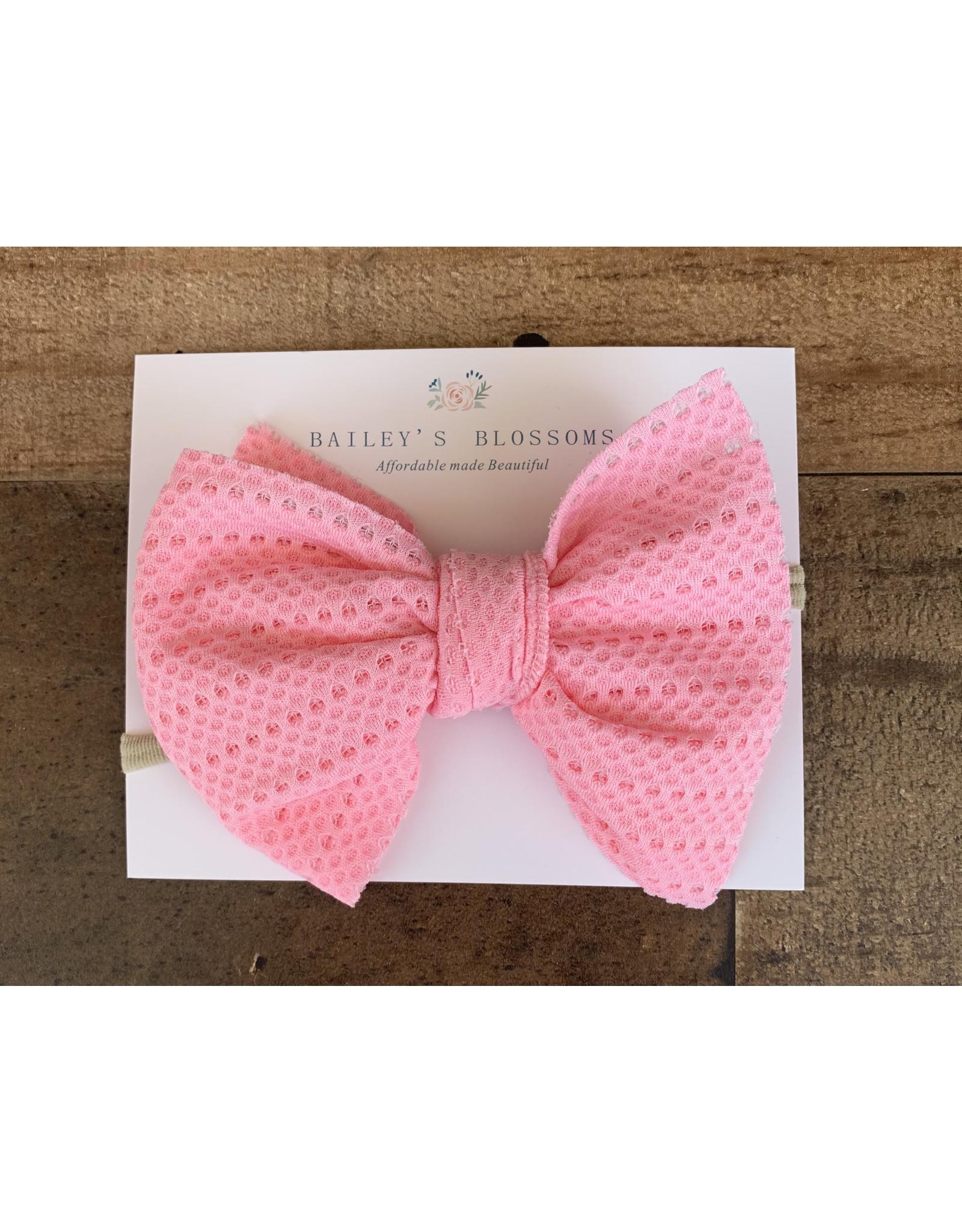 Baileys Blossoms Bailey's Blossoms- Rainbow Pink Stretch Mesh Headband