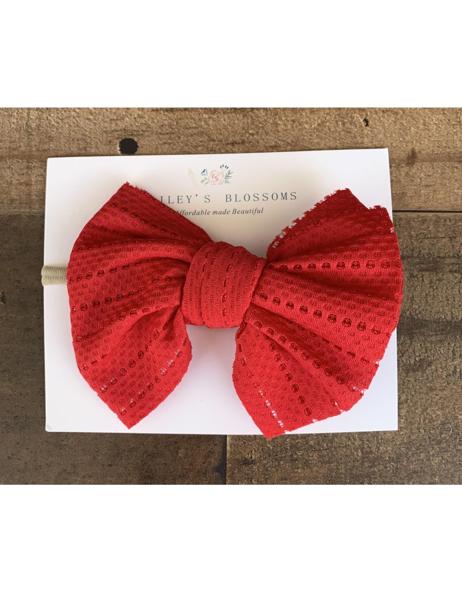 Baileys Blossoms Bailey's Blossoms- Rainbow Red Stretch Mesh Headband