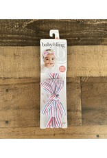 Baby Bling Baby Bling - Americana Stripe Printed Knot