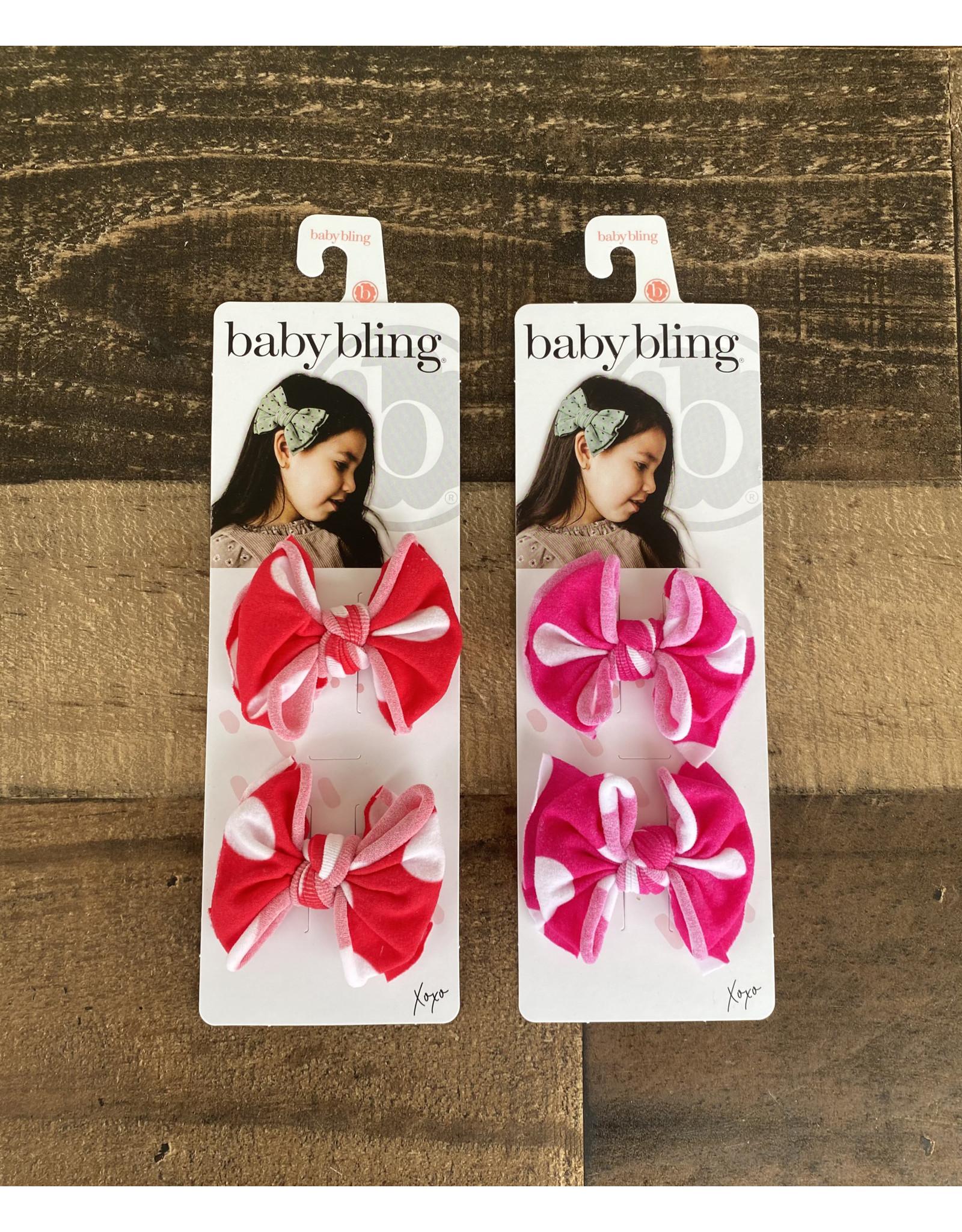 Baby Bling Baby Bling - 2PK Baby FAB Clips Polka Dot: