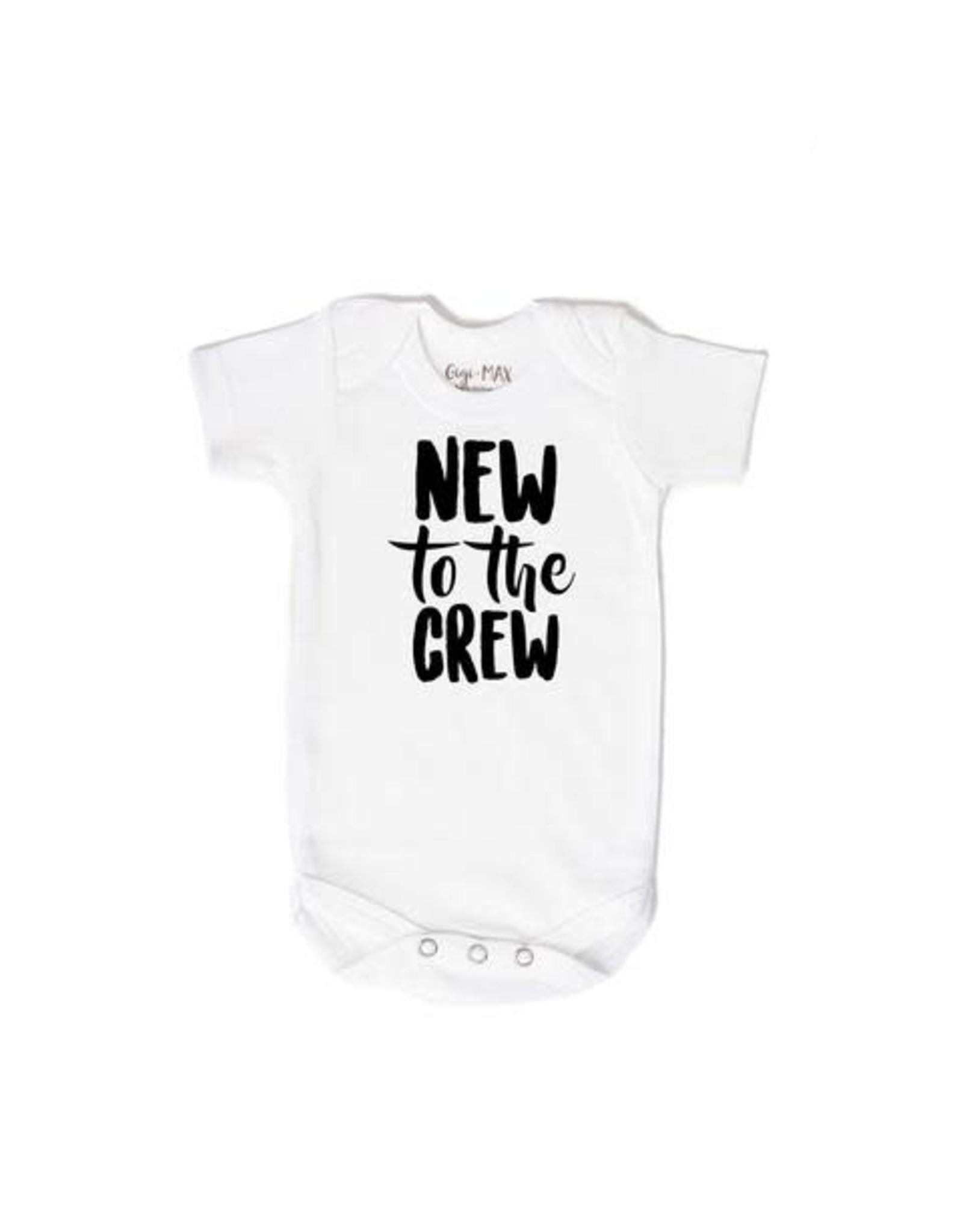 Gigi & Max Gigi & Max- New to the Crew S/S Newborn Onesie: Black