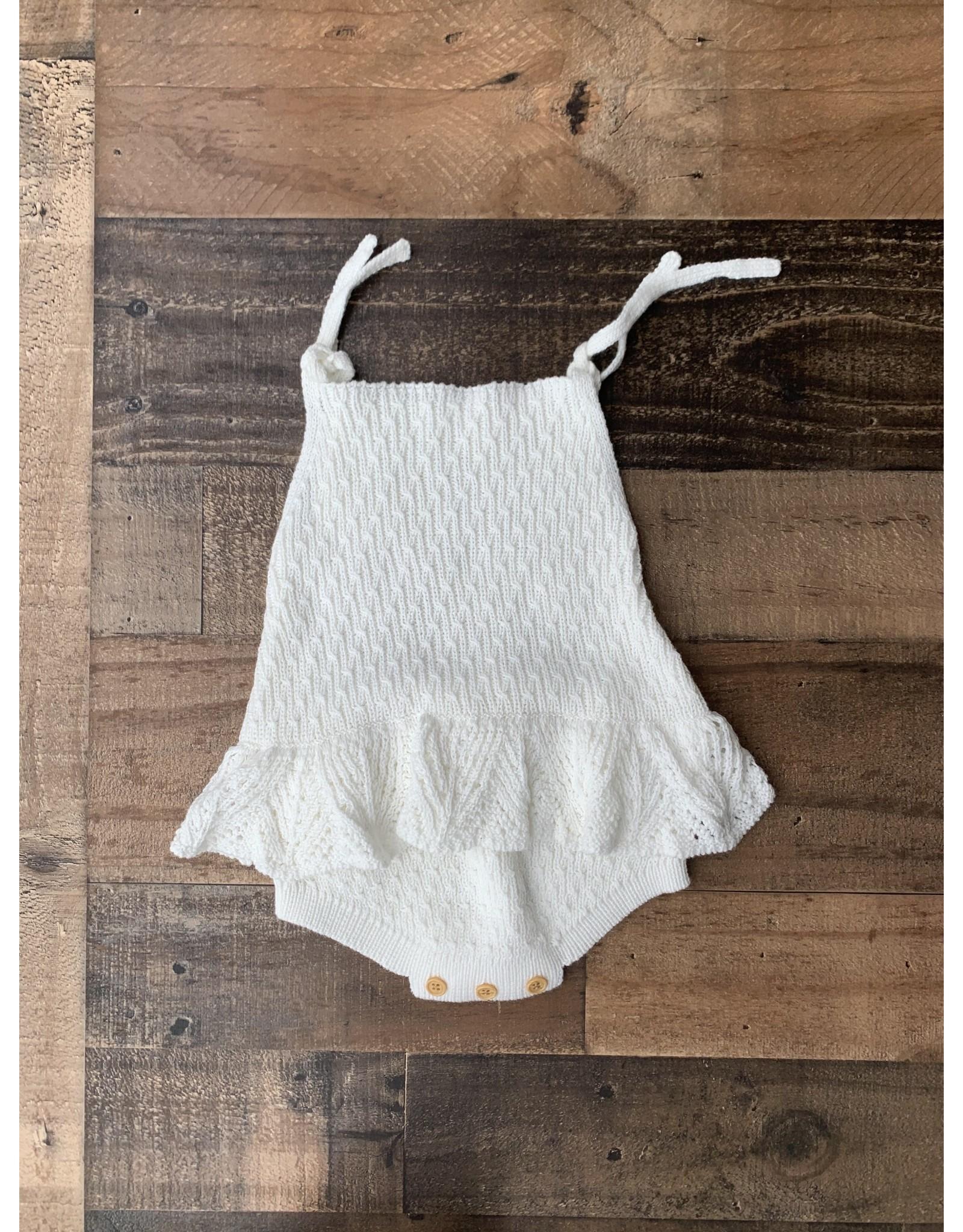 loved by Jade Presley loved by jade presley- Jade Crochet Skirted Bubble: White