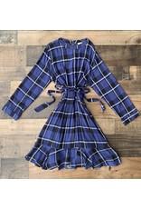 Hayden- Navy Mix Belted Dress