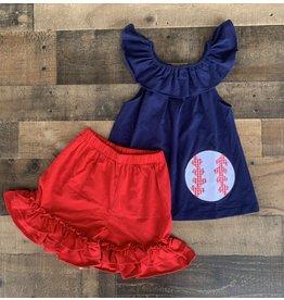 Natalie Grant- Baseball Short Set: Size 6
