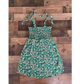 Sadie & Sage Sadie & Sage- Petal Dance Smocked Dress- Green