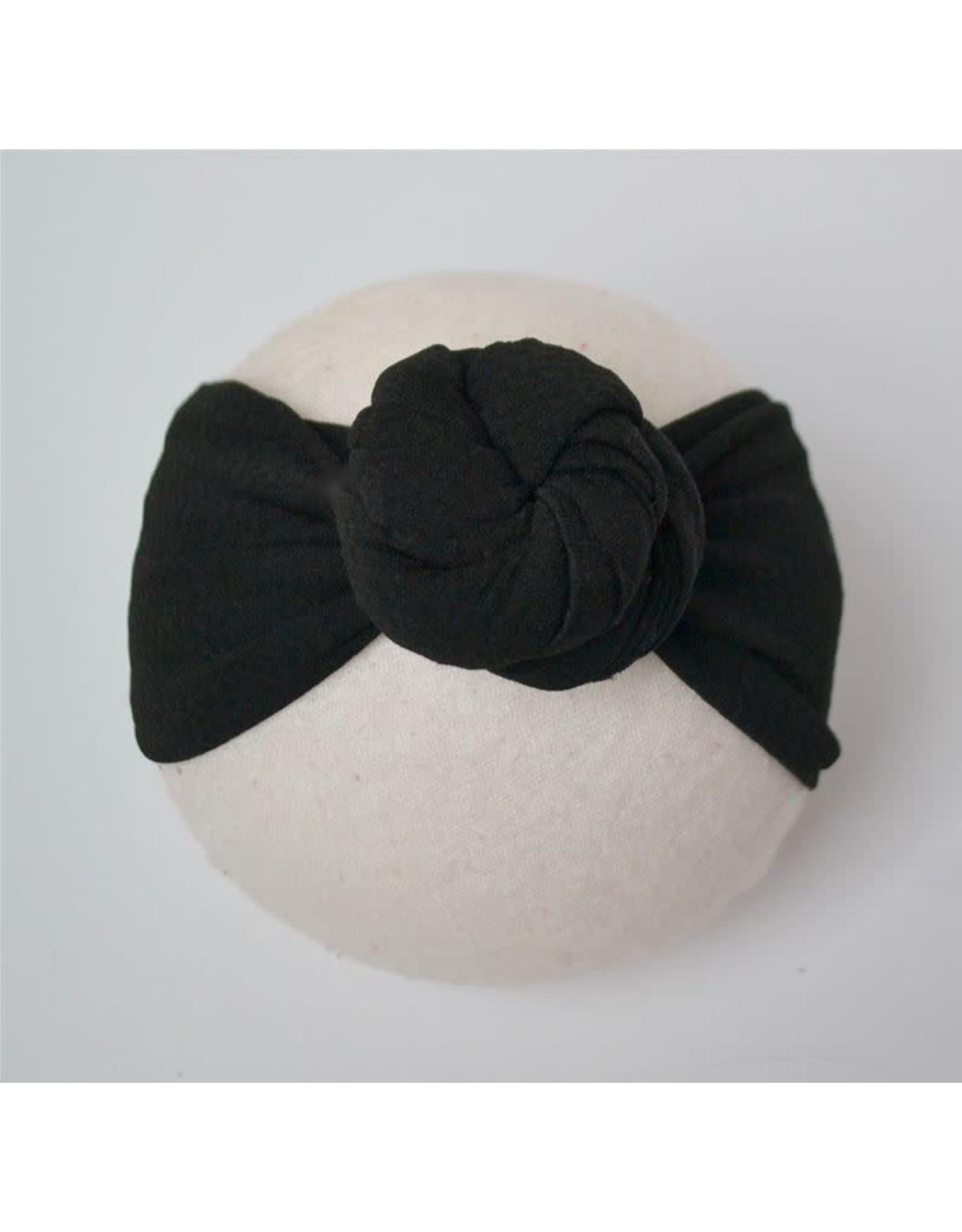 Bella Reese- Black Top Knot Headband