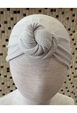 Bella Reese- Silver Top Knot Headband