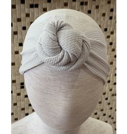 Bella Reese- Silver Top Knot Headband