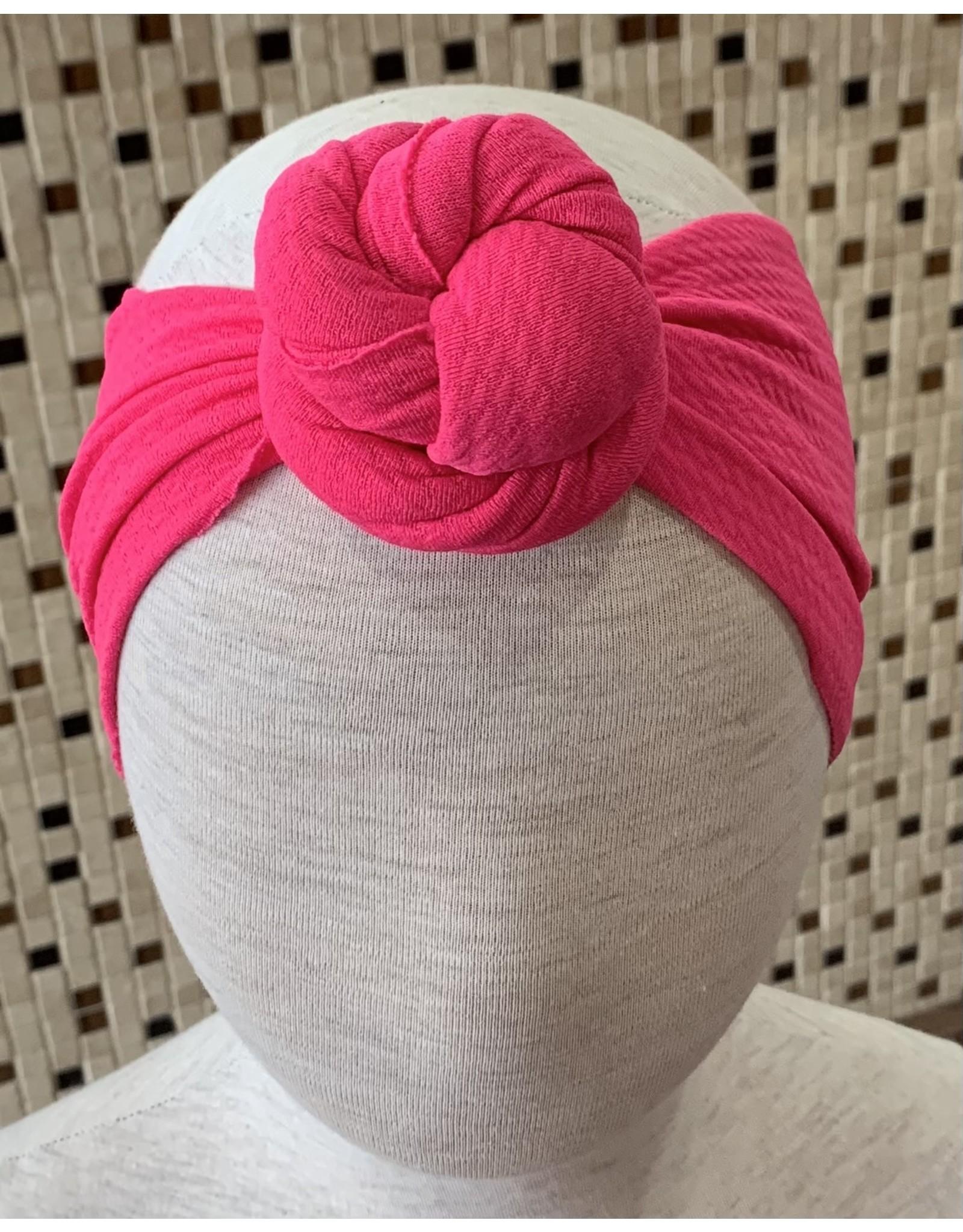 Bella Reese- Hot Pink Top Knot Headband