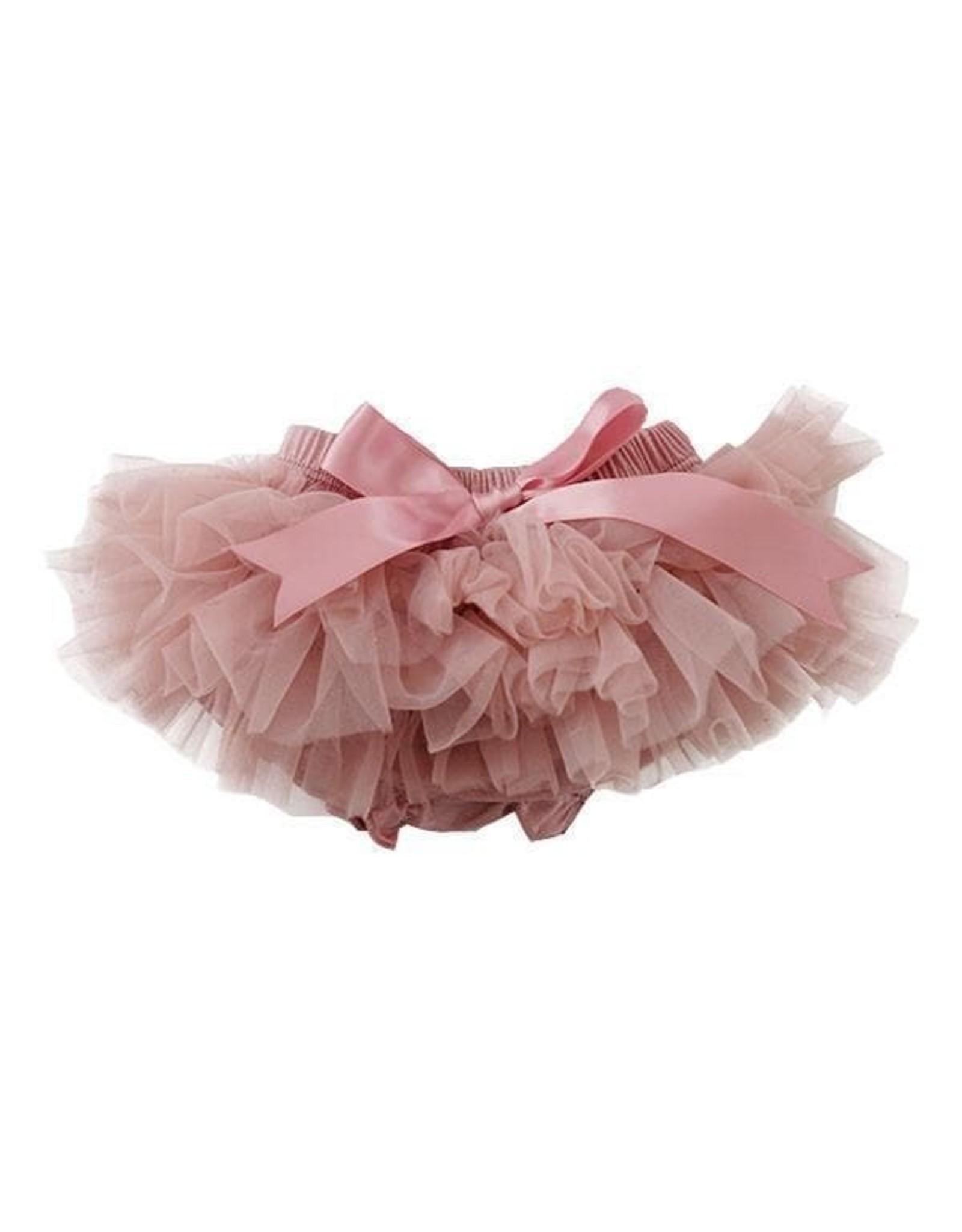 Mila & Rose- Vintage Pink Ruffle Tutu Bloomer NB-6M