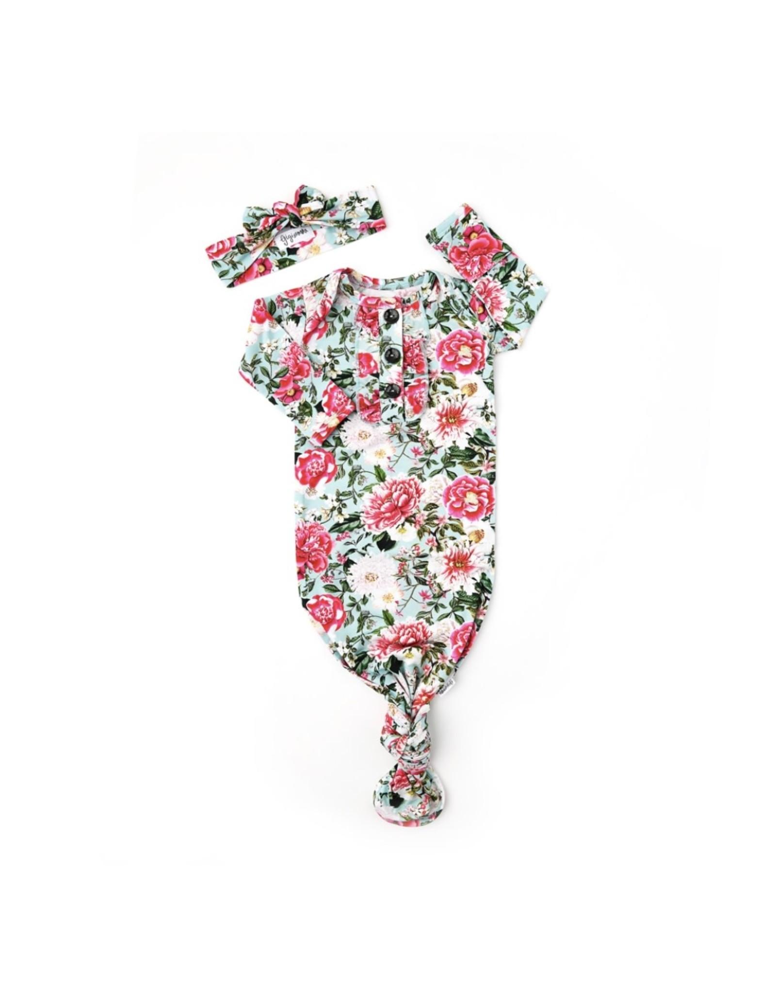 Gigi & Max Gigi & Max- Palmer Floral Ruffle Gown & Headband Set