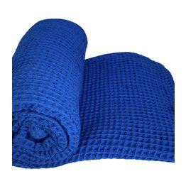"""Stroller Society Stroller Society- 40"""" by 40"""" Waffle Blanket: Classic Blue"""