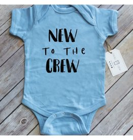 Paper Cow Paper Cow- New To The Crew Newborn Onesie- Blue