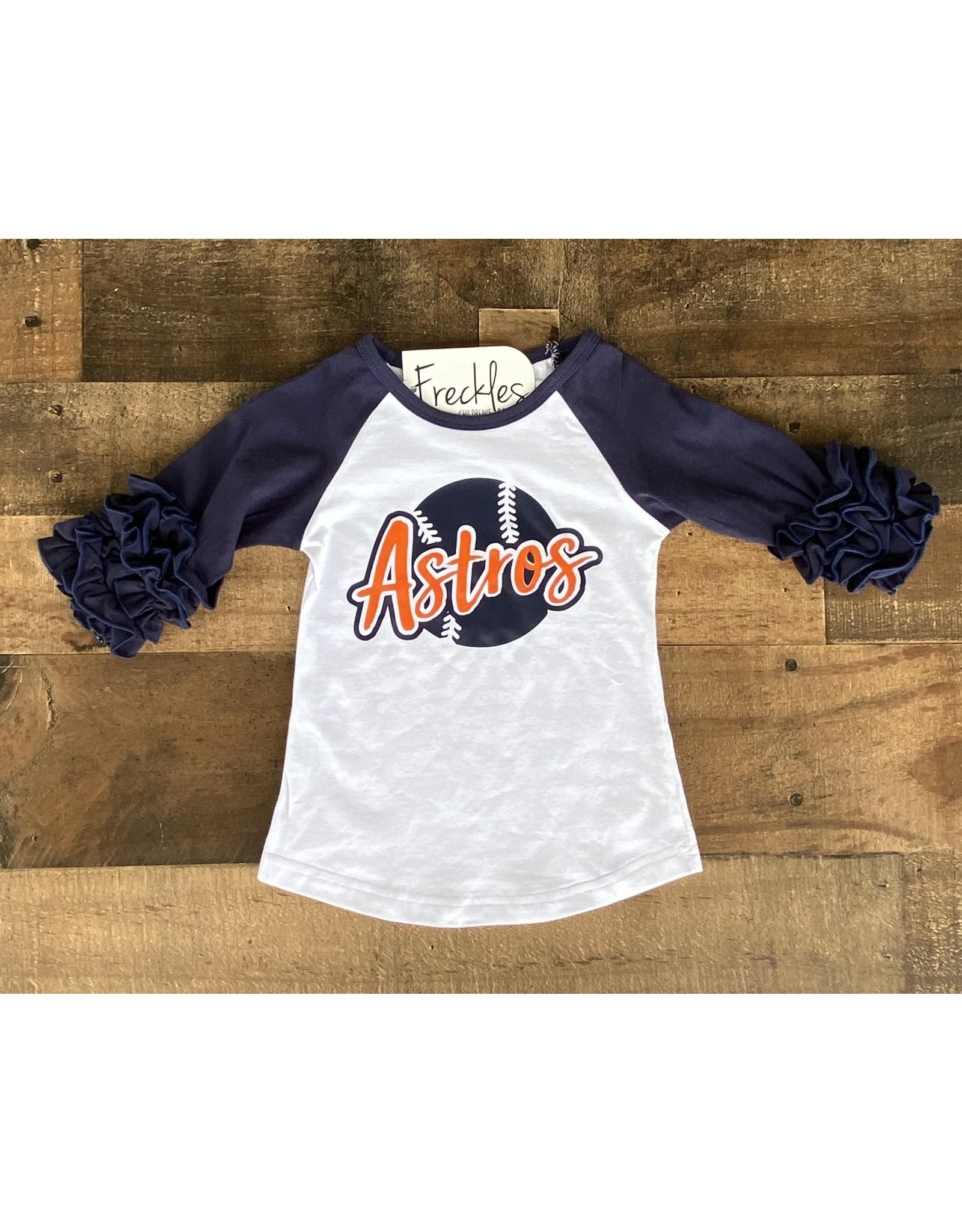 Astros Ruffle Raglan