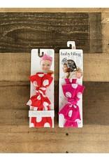 Baby Bling Baby Bling - Printed Knot Polka Dot:
