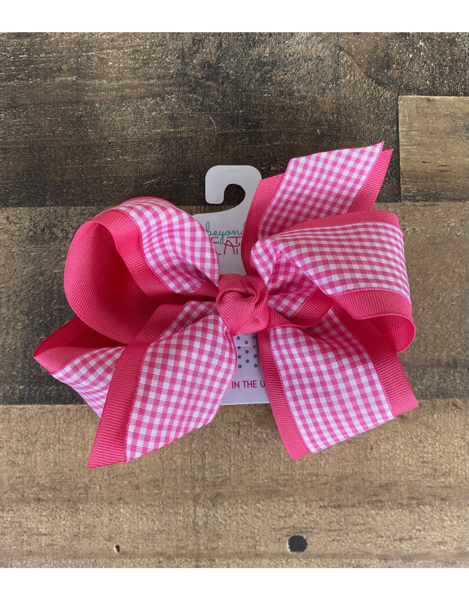 """Beyond Creations Beyond Creations- 5.5"""" XL Gingham Layered Knot Bow"""