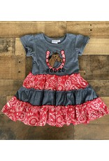 Koko Nut- Horshoe Applique Patch Dress