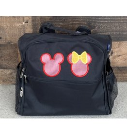 Mickey & Minnie Mouse Applique Diaper/Utility Backpack