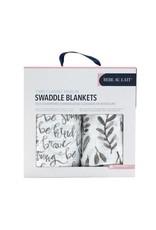 Bebe Au Lait Bebe Au Lait- Just Be & Leaves Classic Muslin Blanket Set