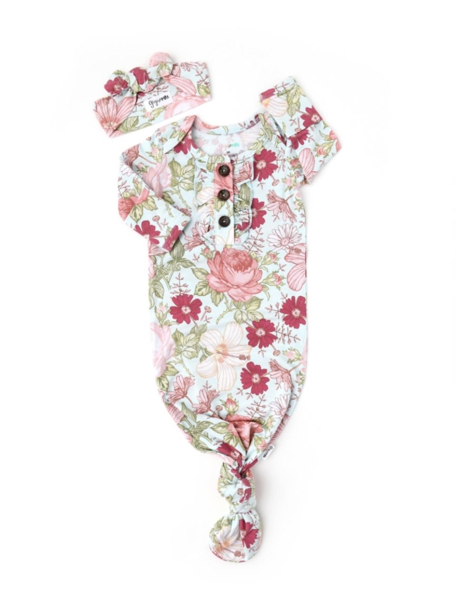 Gigi & Max Gigi & Max- Sutton Floral Ruffle Gown & Headband Set