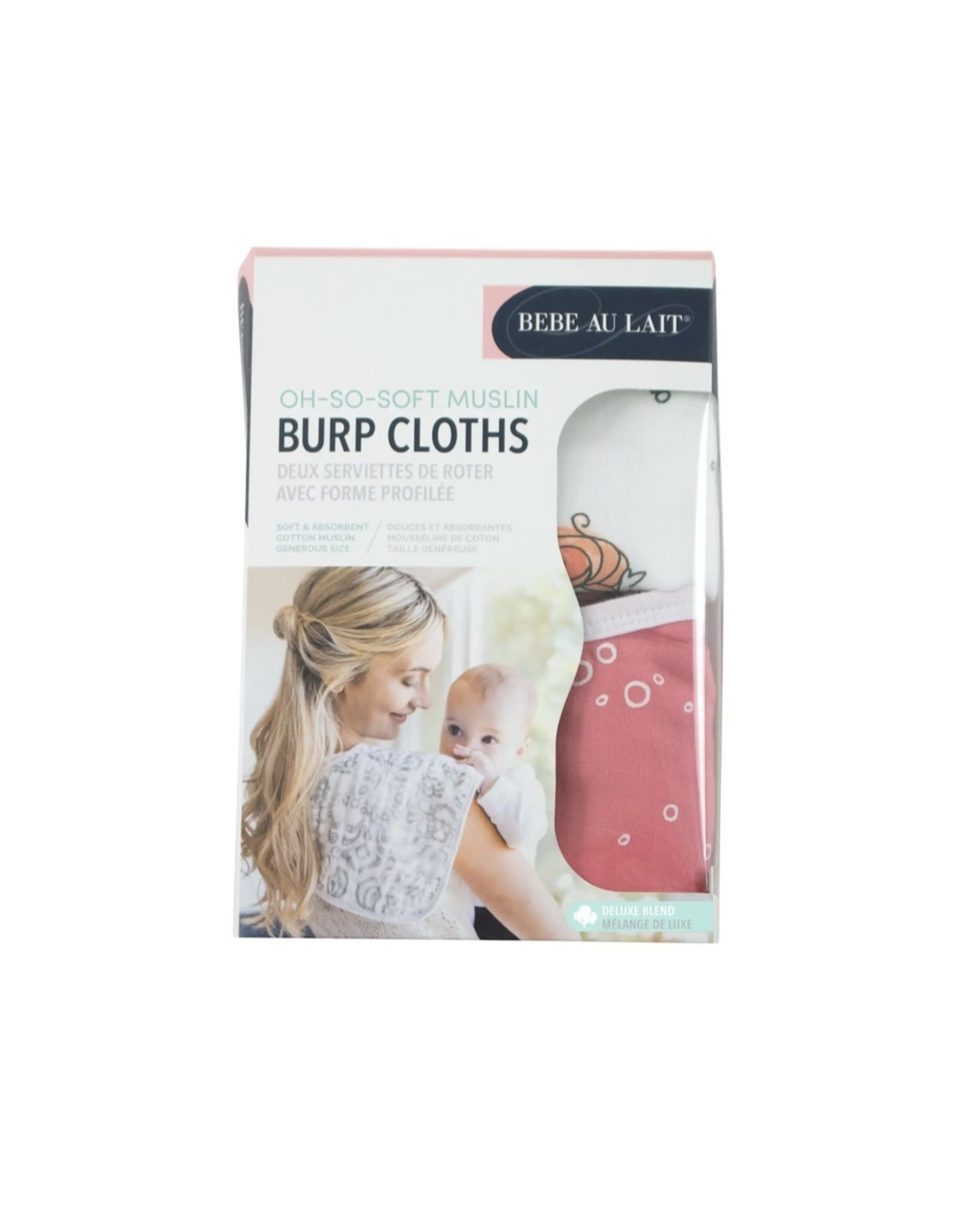 Bebe Au Lait Bebe Au Lait- Mermaid & Bubbles Oh-So-Soft Muslin Burp Cloths