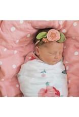 Bebe Au Lait Bebe Au Lait- Rosy & Dewdrops Oh-So-Soft Muslin Swaddle Blanket Set