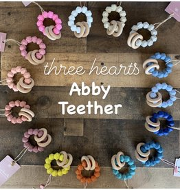 Three Hearts- Abby Teething Rattle