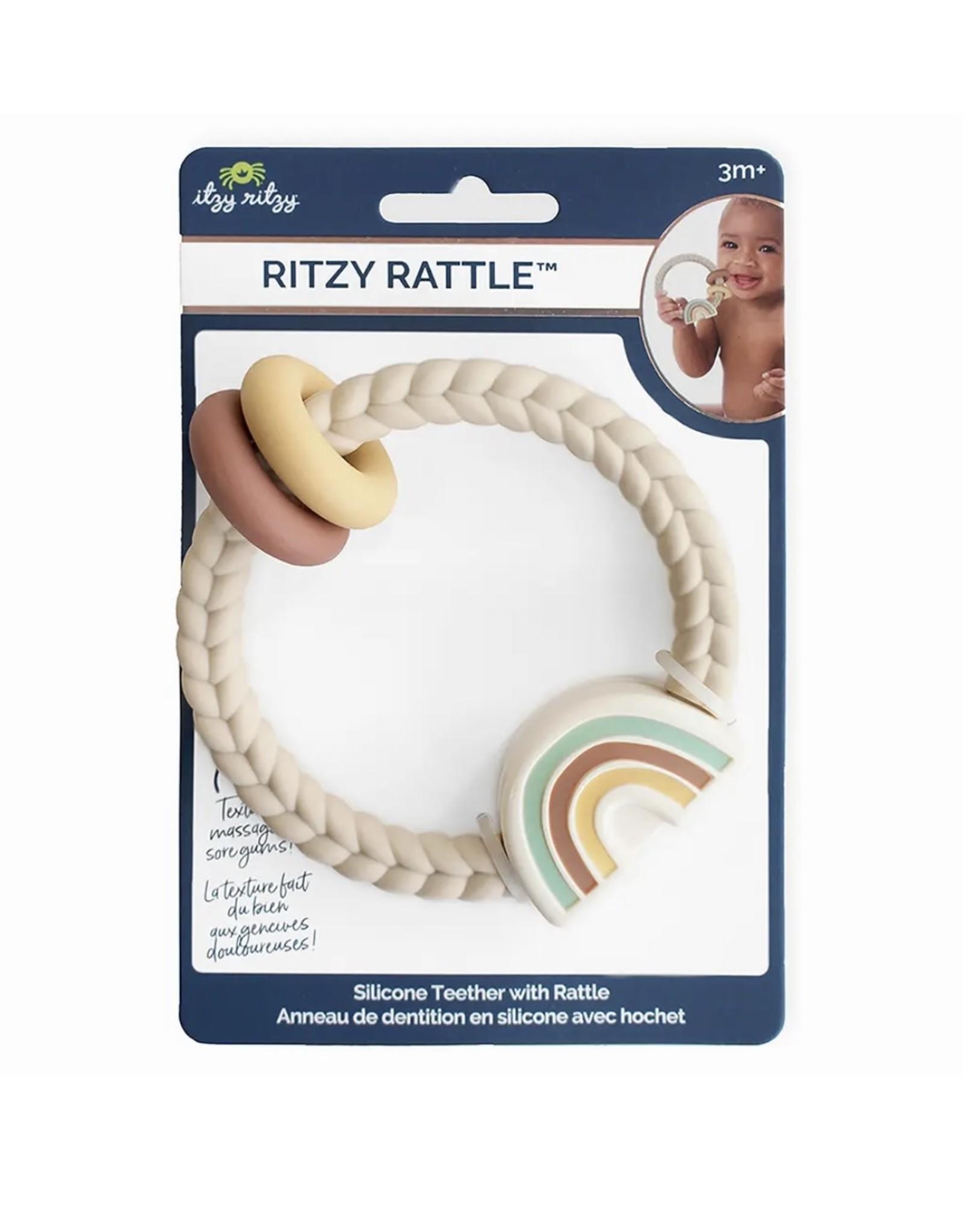 Itzy Ritzy Itzy Ritzy- Natural Ritzy Rattle Rainbow