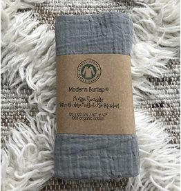 Modern Burlap Modern Burlap- Organic Cotton Gray Swaddle