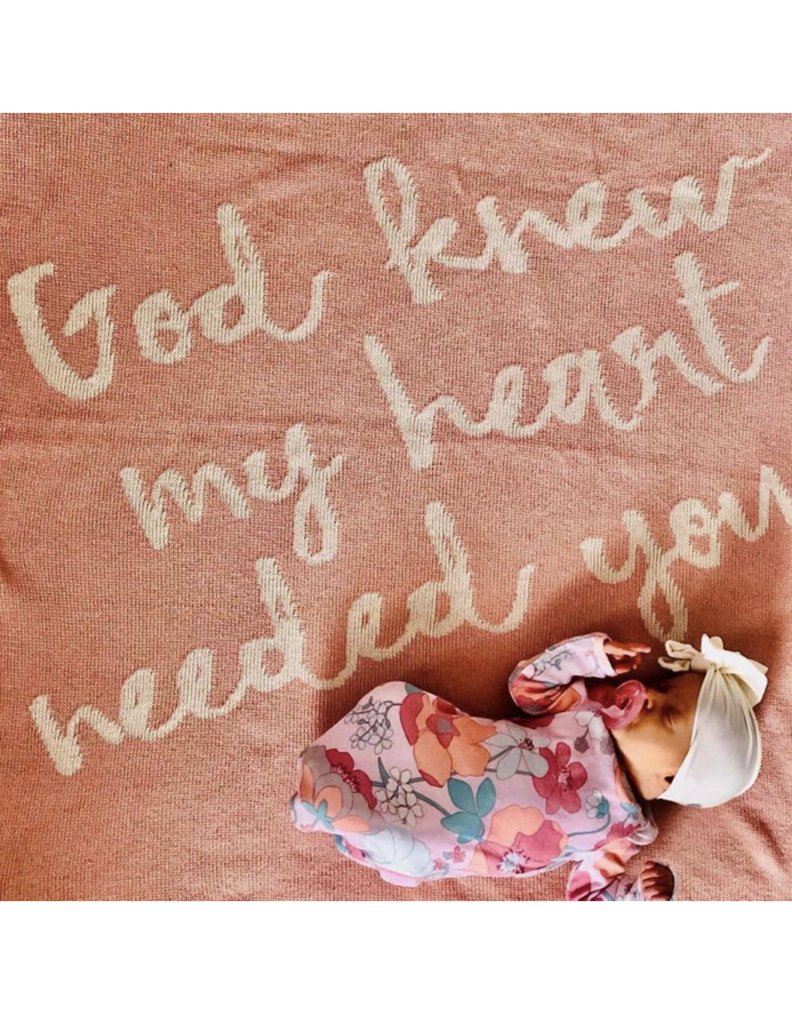 "Modern Burlap Modern Burlap- God Knew My Heart... 30"" x 40"" Throw Blanket: Cameo"