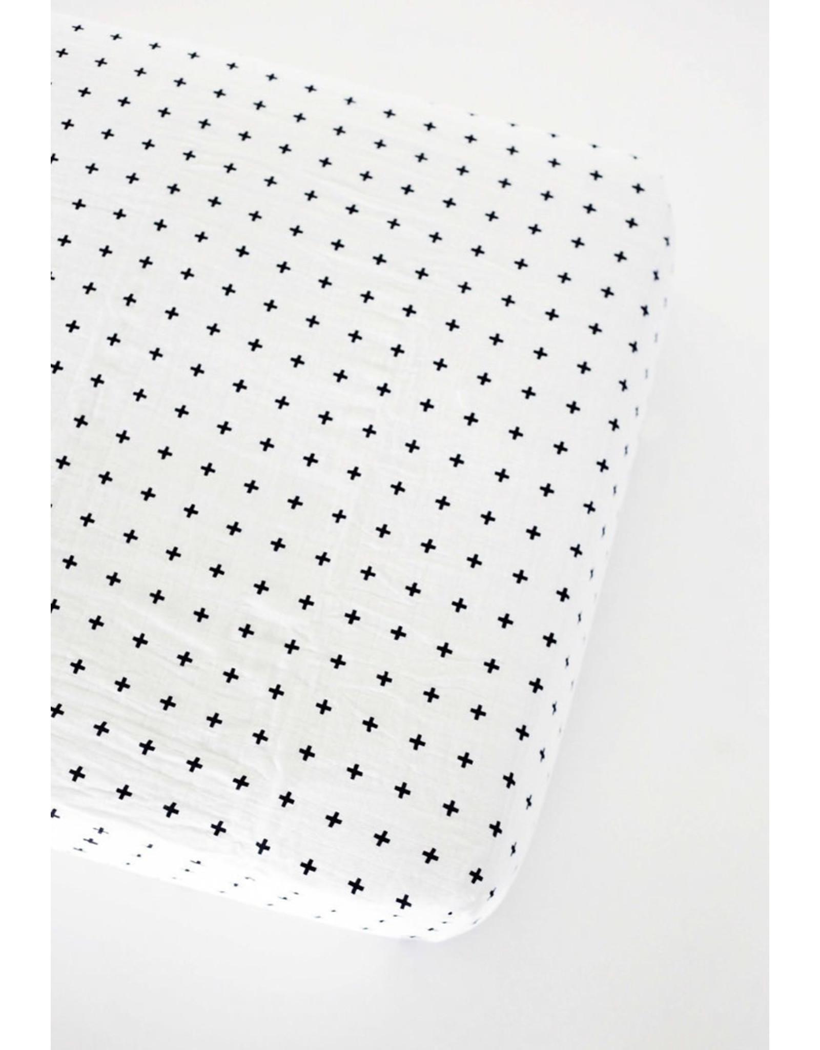 Modern Burlap Modern Burlap - Swiss Cross Twin Sheet