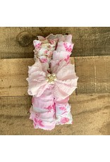 In Awe - Floral Swaddle Wrap & Headband Set