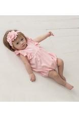 Isobella & Chloe Isobella & Chloe- Pink Knit Ruffle Romper
