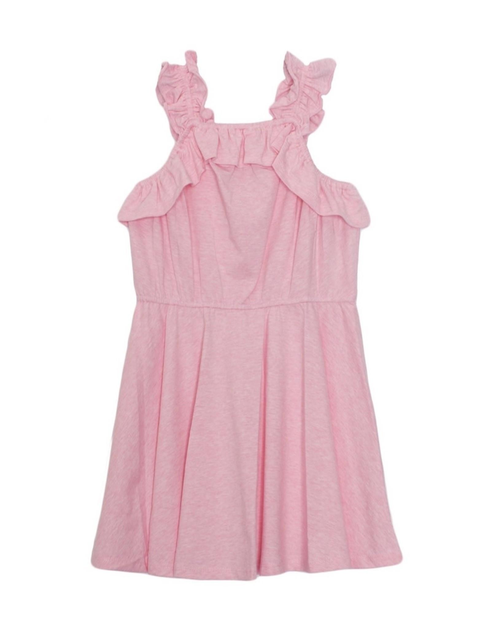 Isobella & Chloe Isobella & Chloe- Pink Knit Ruffle Dress